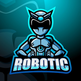 Illustration d'esport de mascotte robotique