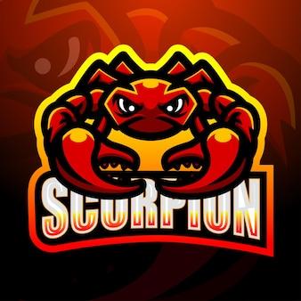 Illustration d'esport mascotte scorpion