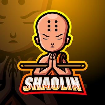Illustration d'esport de mascotte de shaolin