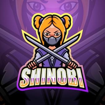 Illustration esport mascotte shinobi