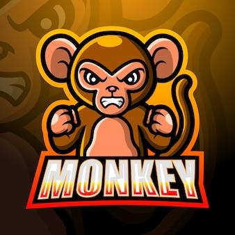 Illustration d'esport mascotte singe