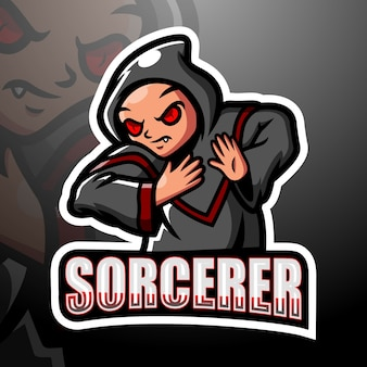 Illustration d'esport de mascotte de sorcier