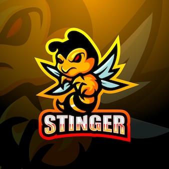 Illustration de l'esport mascotte stinger