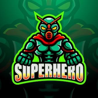 Illustration d'esport de mascotte de super-héros