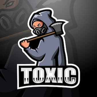 Illustration d'esport de mascotte toxique
