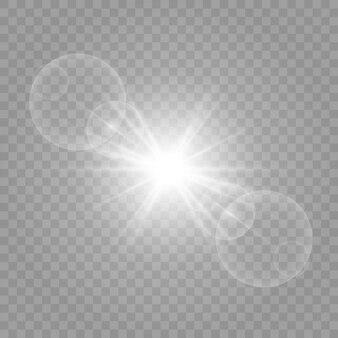 L'illustration est dessinée sous forme de lumière
