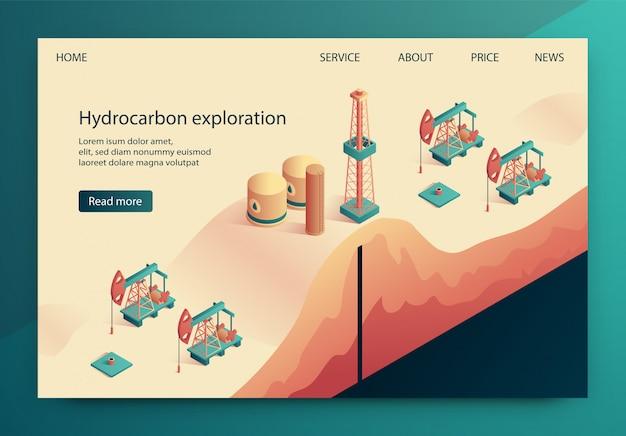 L'illustration est l'exploration d'hydrocarbures écrite.