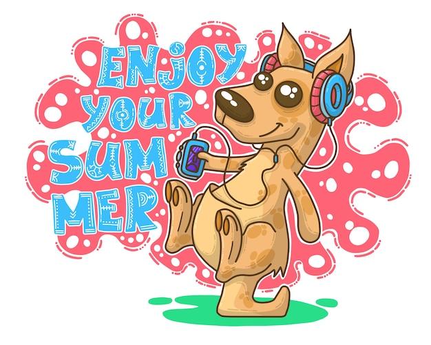 Illustration d'été avec kangourou