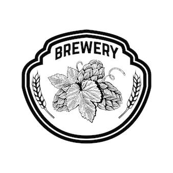 Illustration d'étiquette de bière vintage