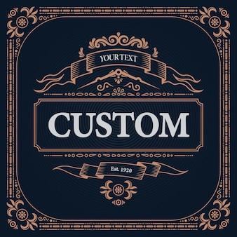 Illustration d'étiquette design vintage rétro
