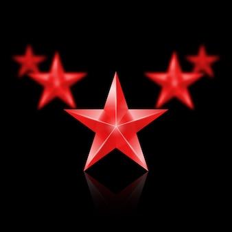 Illustration de l'étoile en or brillant l