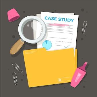 Illustration d'étude de cas dessinée à la main