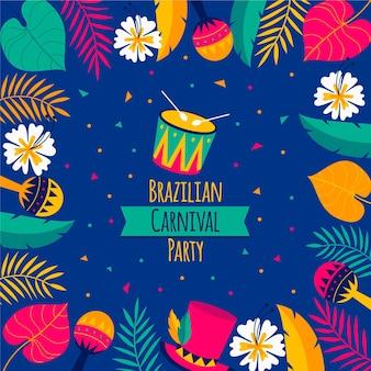 Illustration d'événement de carnaval brésilien design plat