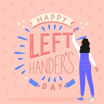 illustration d'événement de la journée des gauchers dessinés à la main