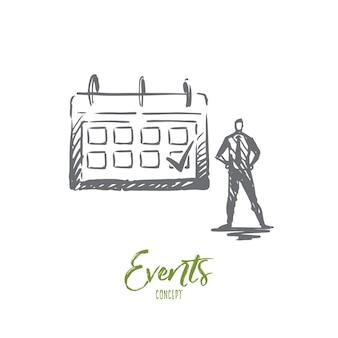 Illustration de l'événement à la main
