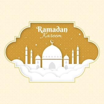 Illustration d'événement ramadan design plat
