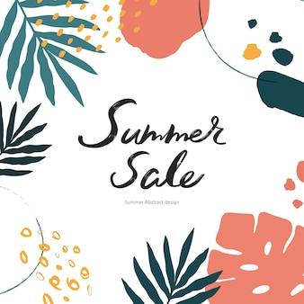 Illustration de l'événement shopping d'été. .tropical