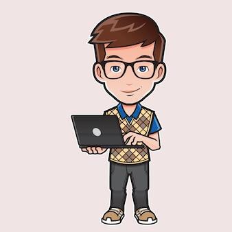 Illustration de l'expert en informatique