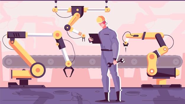 Illustration de fabrication de robotique