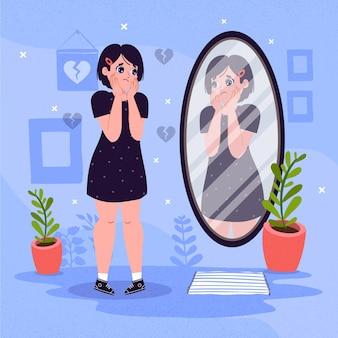 Illustration de faible estime de soi