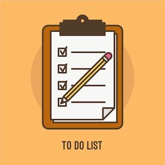 Illustration de faire la liste