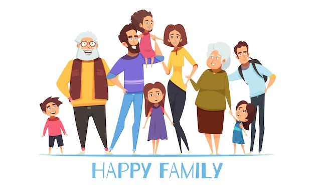 Illustration de famille heureuse