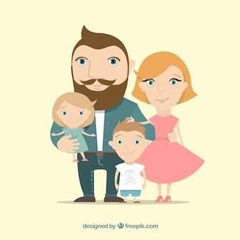 Illustration de la famille