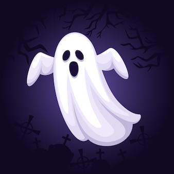 Illustration de fantôme halloween plat