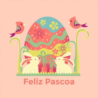 Illustration de feliz pascoa