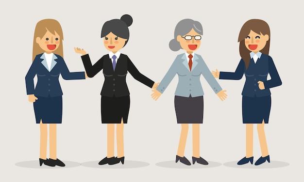 Illustration de femme d'affaires debout