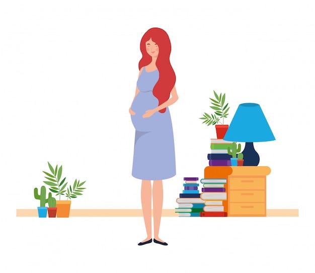 Illustration de femme enceinte isolée