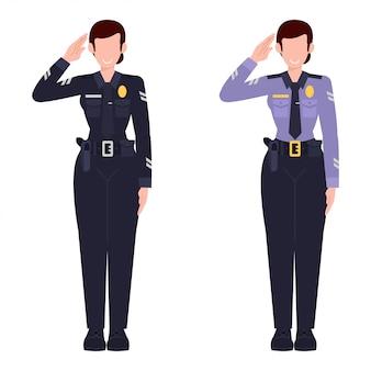 Illustration de femme policier