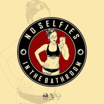 Illustration femme selfies