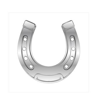 Illustration de fer à cheval avec modèle 3d