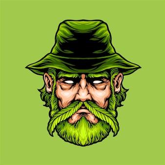 Illustration de fermier de marijuana