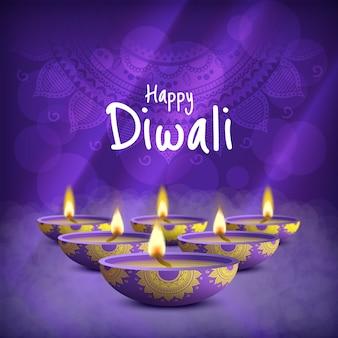 Illustration de la fête de diwali. deepavali. festival des lumières.