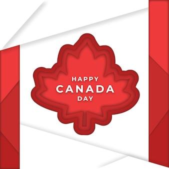 Illustration de la fête du canada dans le style de papier