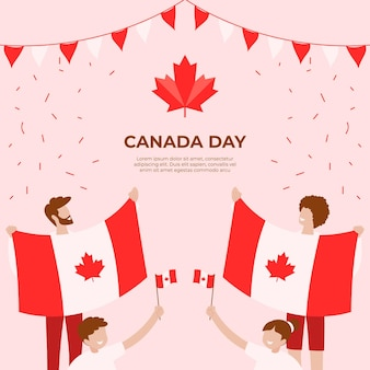 Illustration de la fête du canada dessinés à la main