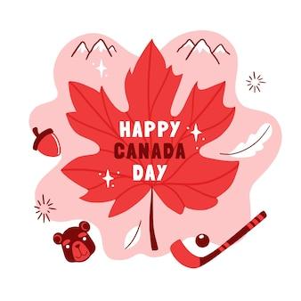 Illustration de la fête du canada dessinés à la main