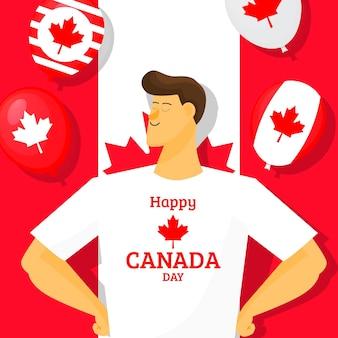 Illustration de la fête du canada plat