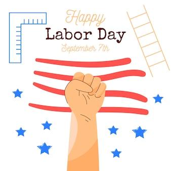 Illustration de la fête du travail des états-unis