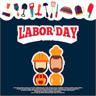 Illustration de la fête du travail