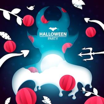 Illustration de la fête d'halloween