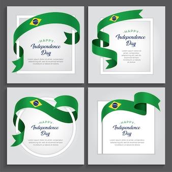 Illustration de la fête de l'indépendance du brésil