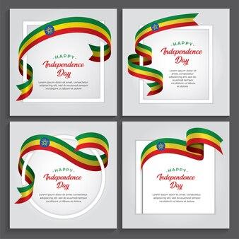 Illustration de la fête de l'indépendance de l'éthiopie