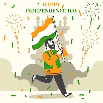 Illustration de la fête de l'indépendance de l'inde