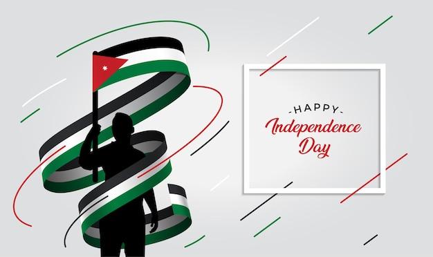 Illustration de la fête de l'indépendance de la jordanie