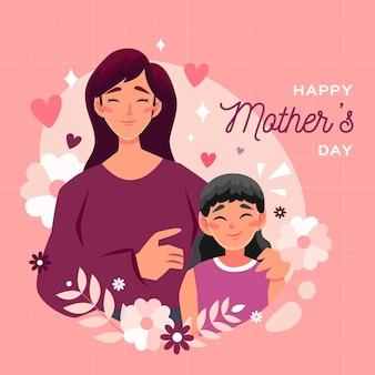 Illustration de la fête des mères de dessin animé