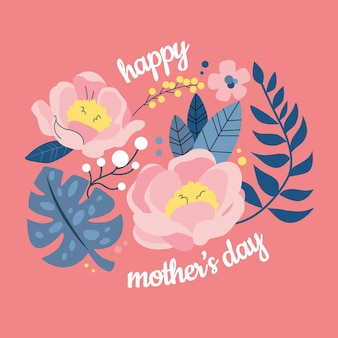 Illustration de la fête des mères florale