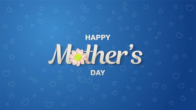 Illustration de la fête des mères heureuse